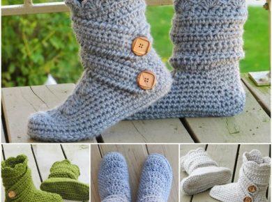 Crochet-Slipper-Boots-