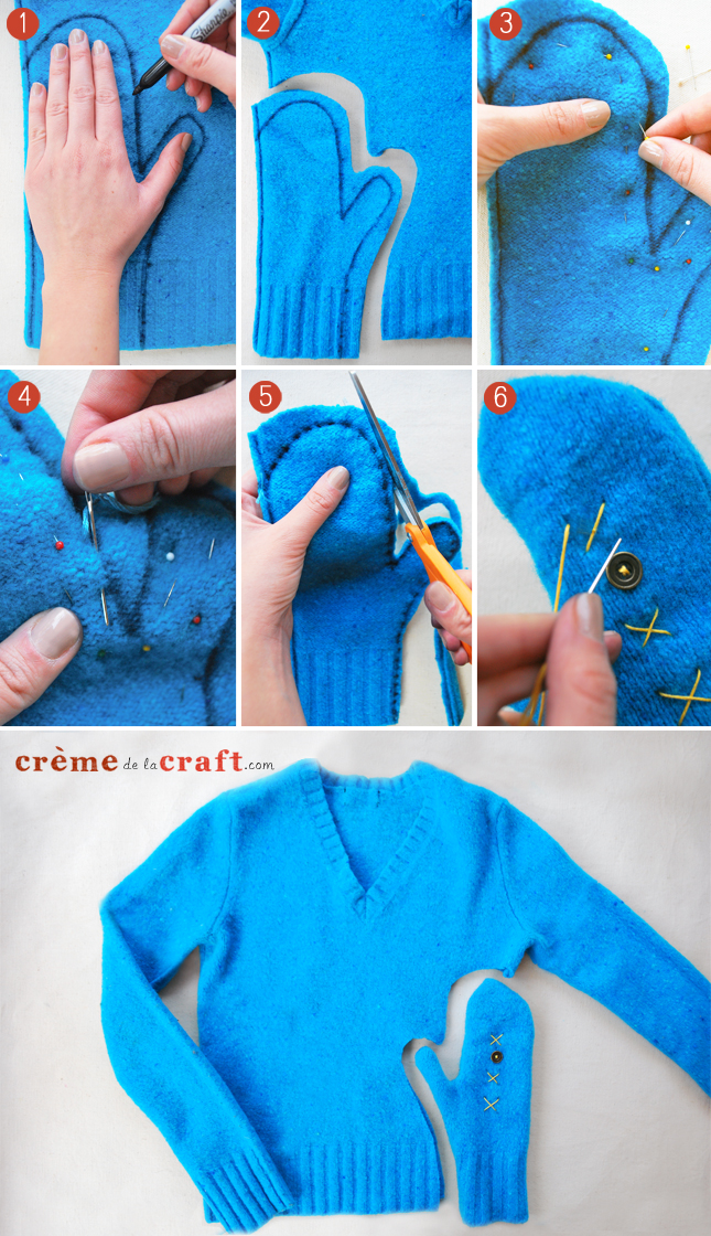 DIY-Craft-Project-Mittens-Old-Sweaters-Upcycle