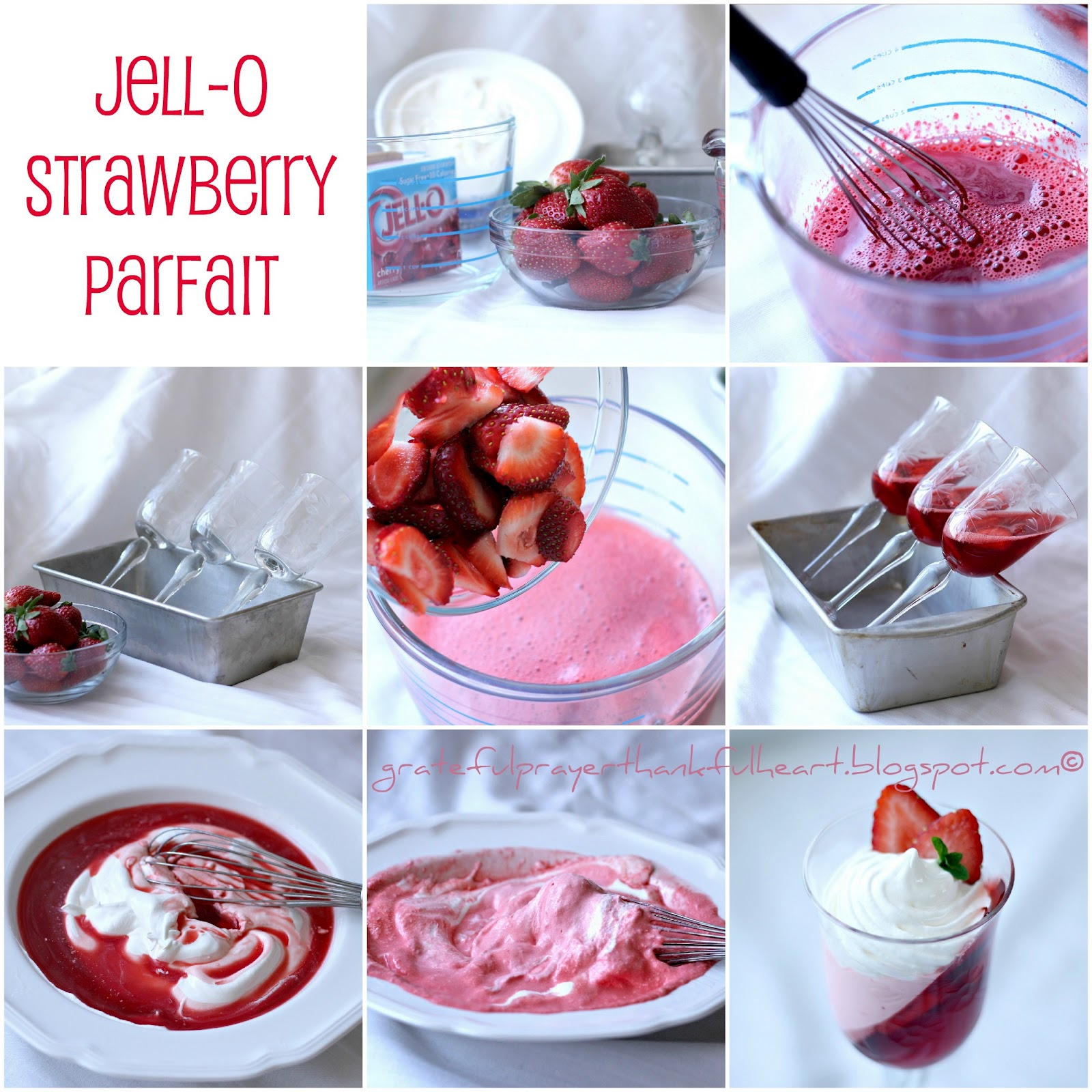 Jell-O Strawberry Parfait how to