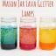 MASON JAR GLITTER LAVA LAMPS