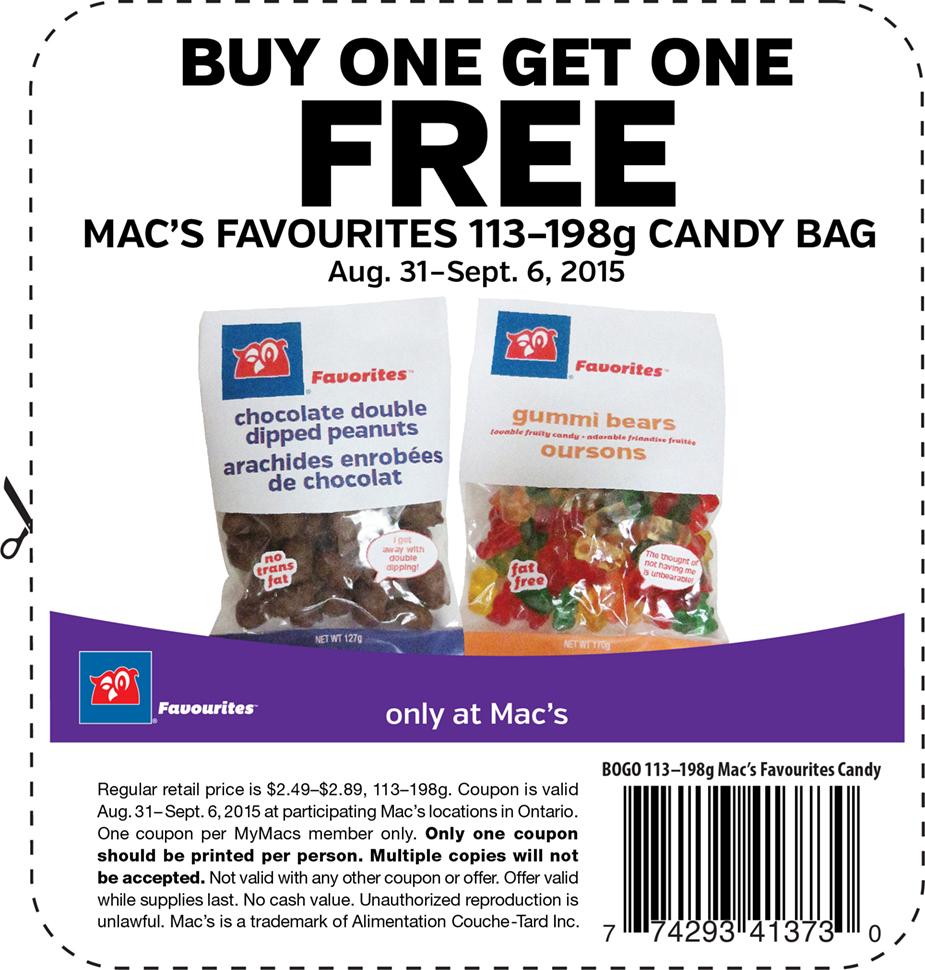 coupon c p5 macs favorites candy1