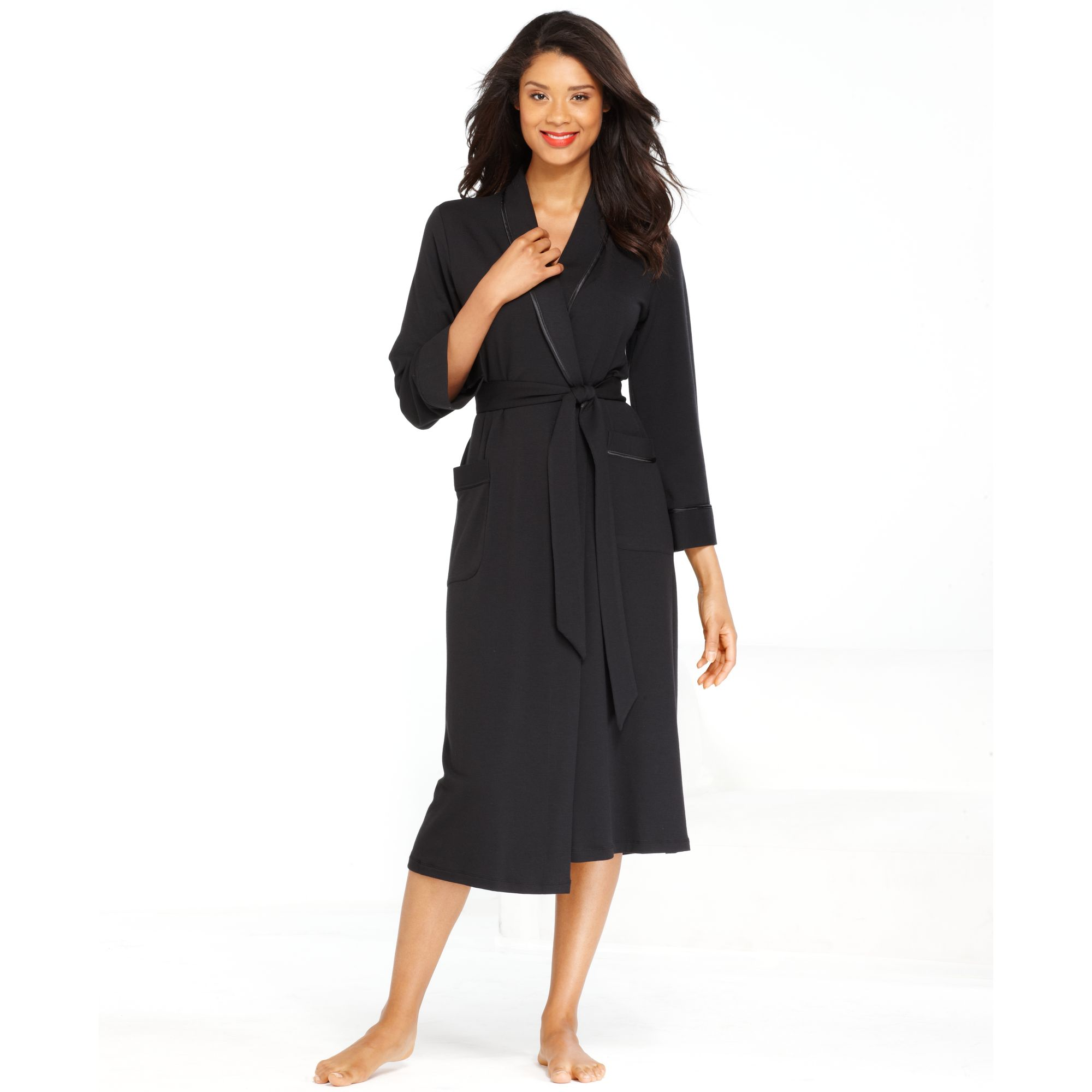 jones new york black french terry robe product 1 14498691 287119771