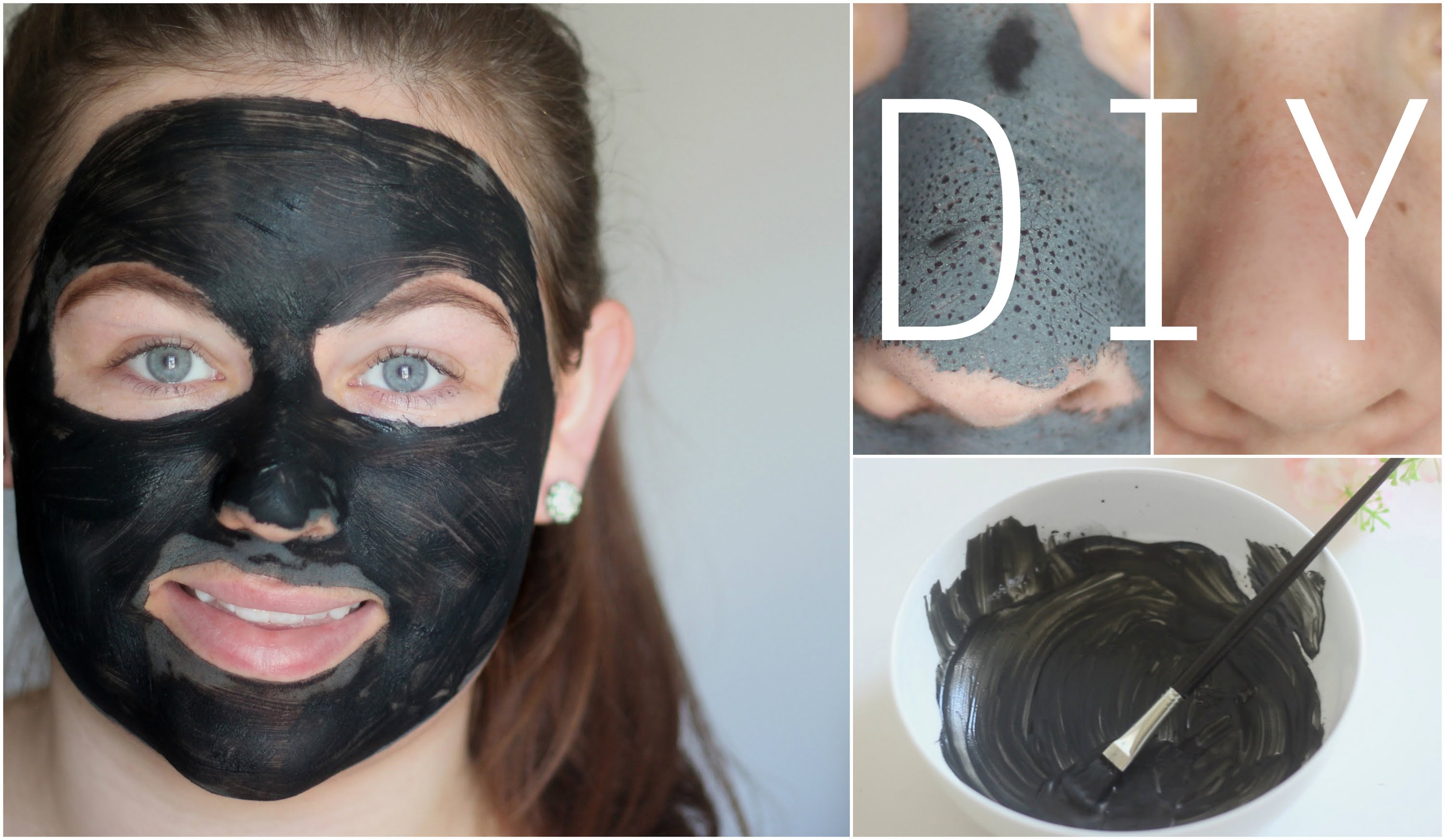 black charcoal face peel