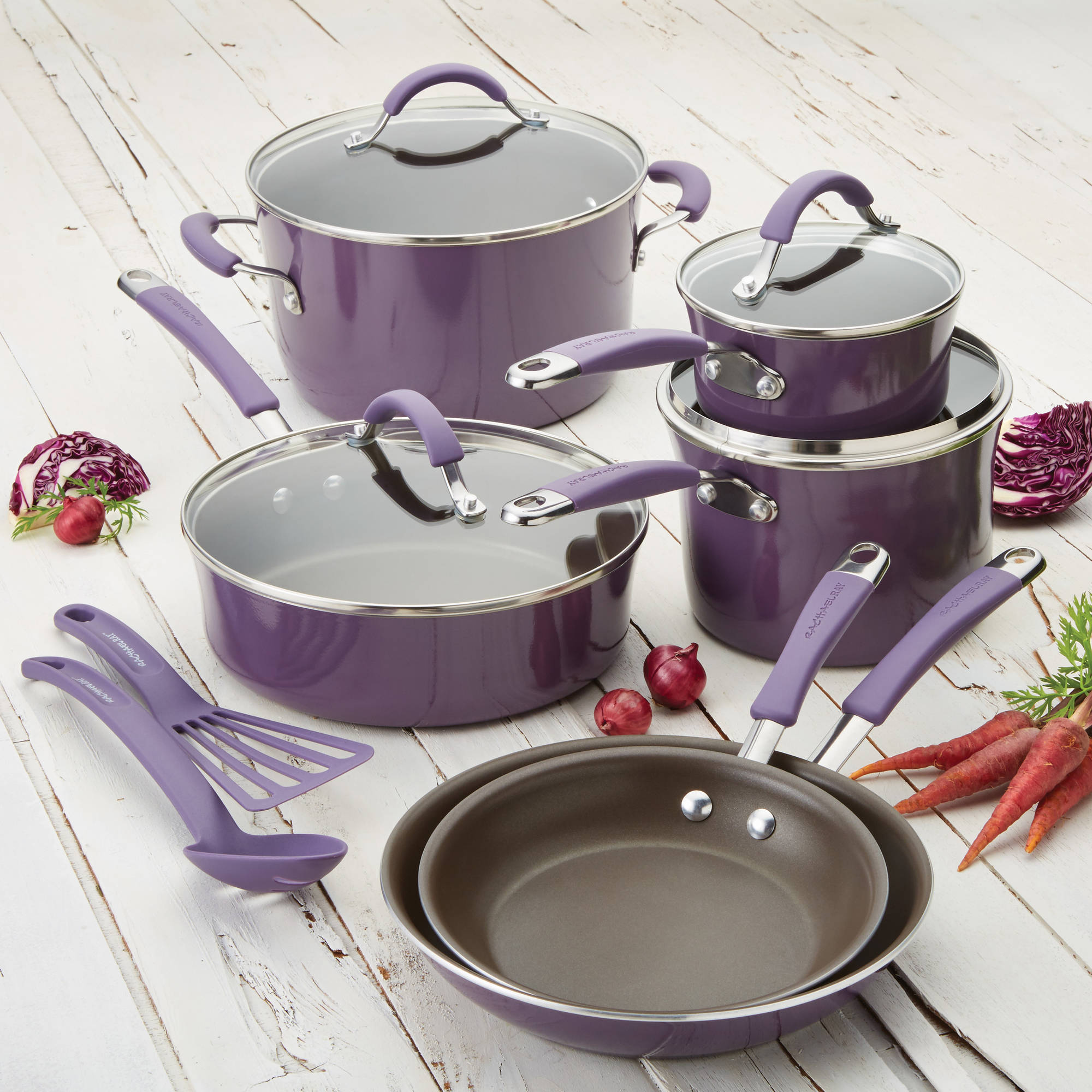 The Rachel Ray Cucina Hard Porcelain Enamel 12 Piece