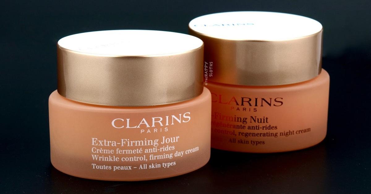 clarins extra firming day night cream