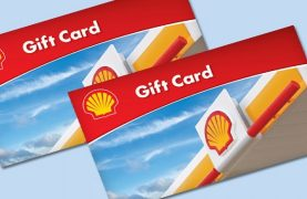 WIN 1 of the 4 $2500 Shell Gift Cards