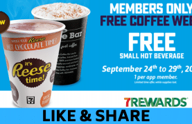 7-Eleven Canada : FREE Small Hot Beverage All Week