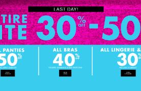 La Senza Canada Deals – Entire Site Save 30-50% off