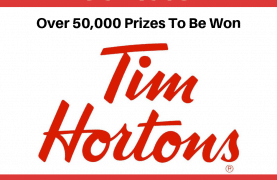 Tim Horton's : Over 50,000 Prizes To Be Won