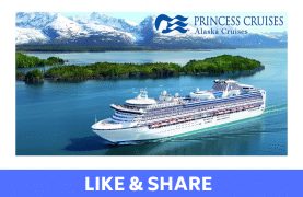 Win an Alaska Cruise for Two -OR- a $2,500 Princess Cruises Gift Card
