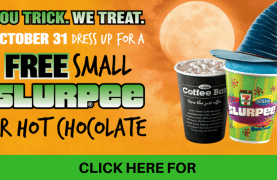 7-Eleven Canada : FREE Slurpee or Hot Chocolate (Oct 31 Only)