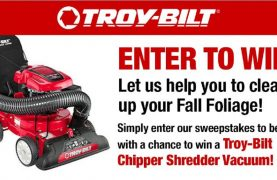Win a Troy Bilt Lawnmower