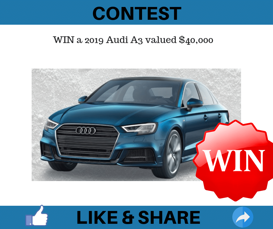 WIN A 2019 Audi A3 Valued $40,000 • Canadian Savers