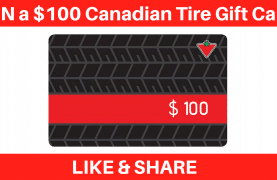 WIN a $100 Canadian Tire Gift Card (New Contest)