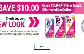 Coupons to Save $10.00 off any COLD-FX!