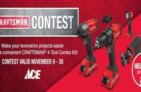 WIN a set of 4 Craftsman tools of $ 300