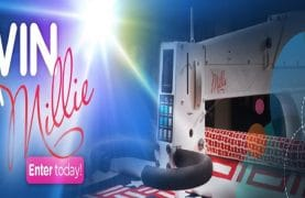 WIN a Millie Longarm embroidery machine