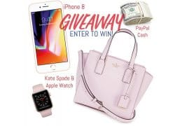 WIN $700 PayPal Cash, an iPhone 8, a Kate Spade Bag & more