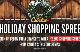 WIN a $2,500 Cabela's shopping spree