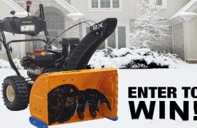 WIN a Cub Cadet Snowblower worth $1,199