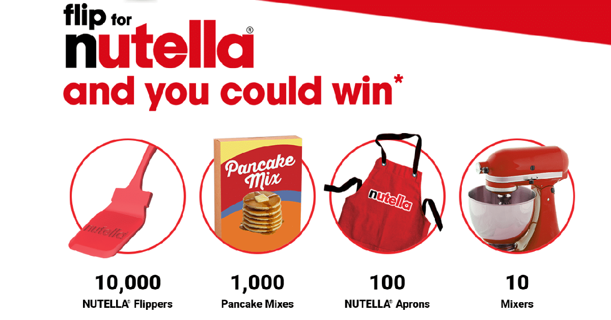 nutella competition win stand