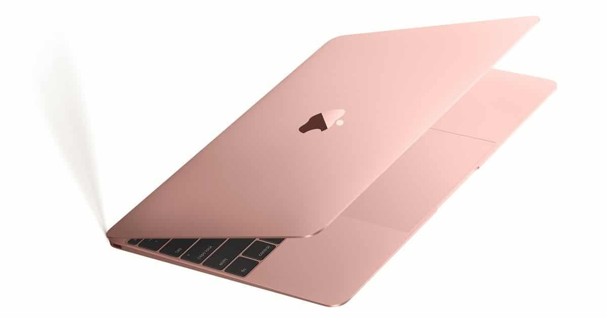 win rose gold macbook air