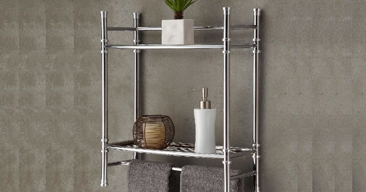 Best Living Bath Chrome Plated Wall Shelf with Towel Bar Silver a146a4ec e99c 46da b47e 57ee2d27dac0