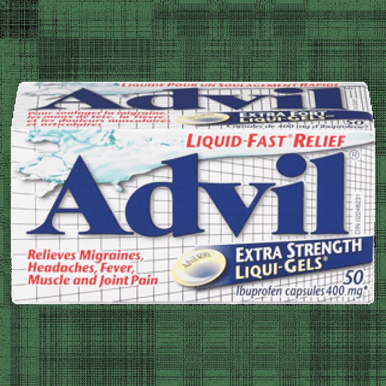 advil liqui gels 400 mg 50ea