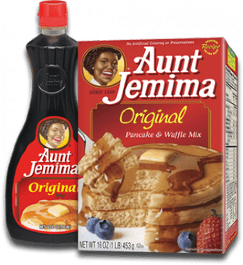 aunt jemima baking mix table syrup