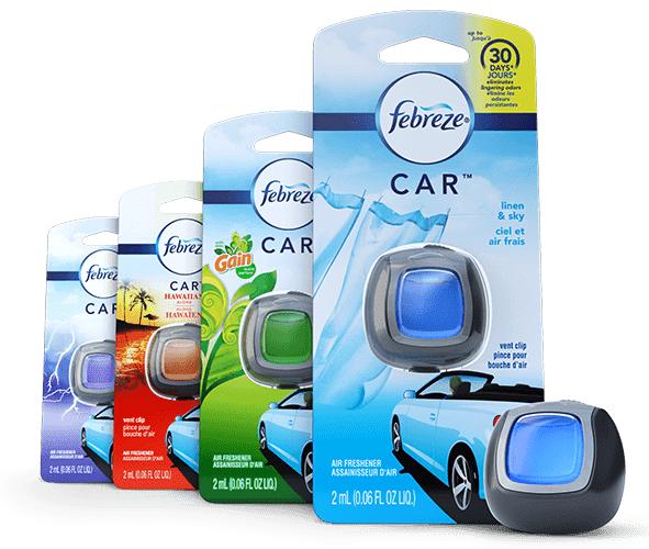 febreze car clip air freshner