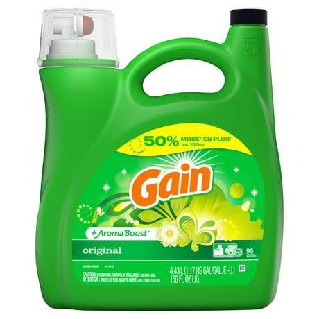 gain liquid laundry detergent 4.34l