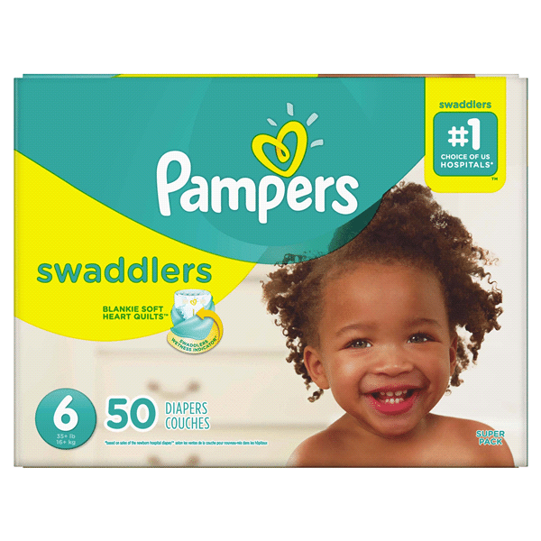 pampers swaddlers size6 50