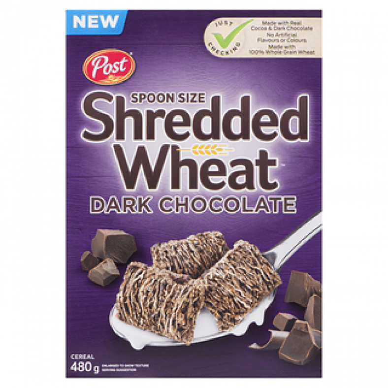 post shredded wheat dark chocolate 480g