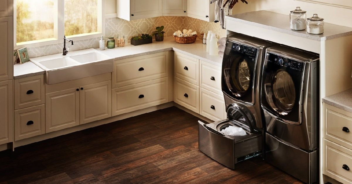 win lg twinwash washer and dryer