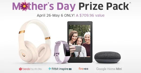 win mothers day prize pack