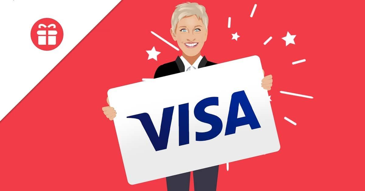 win visa gift card ellen tube