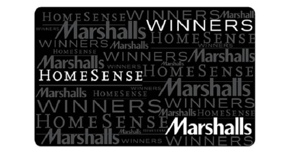 win winners marshalls homesense gift cards