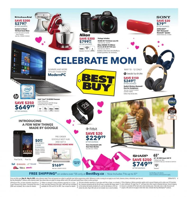 Best Buy Flyer Celebrate Mom May 10 to 16 2019 001 e1557496339262
