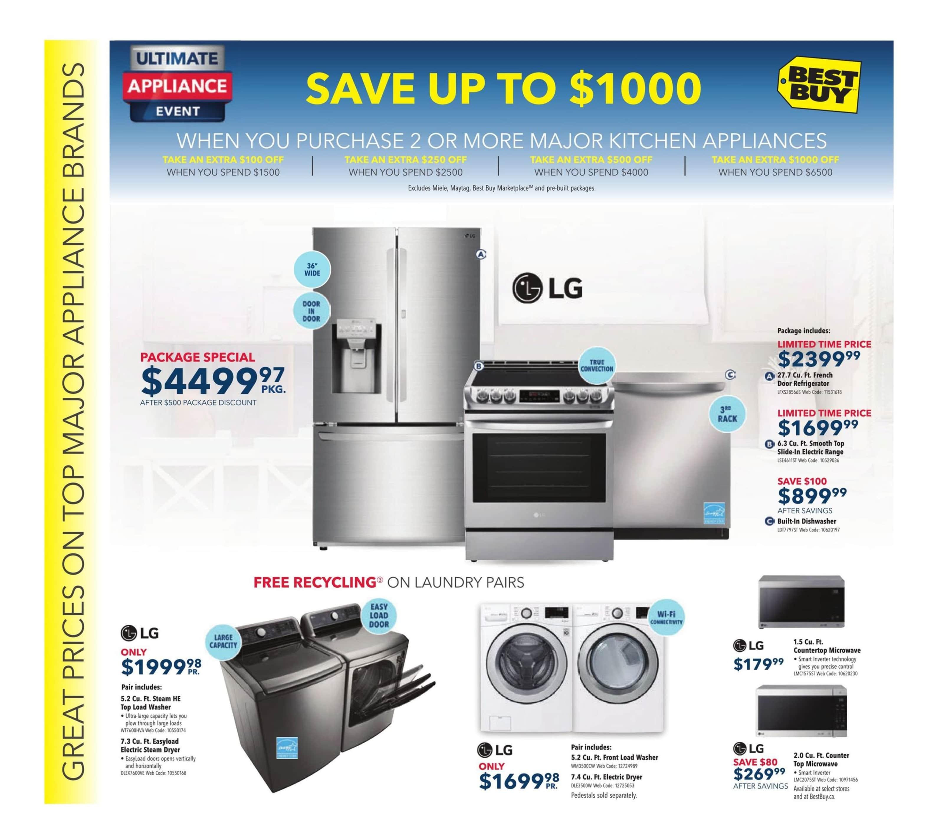 Best Buy Flyer Ultimate Appliance Event 001