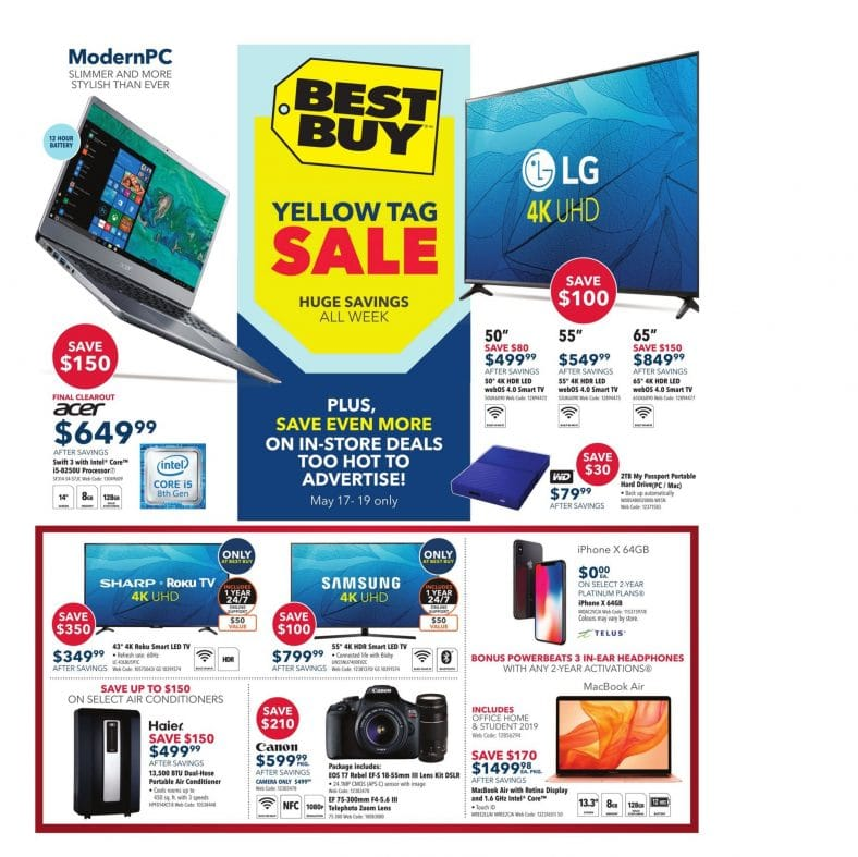 Best Buy Yellow Tag Sale Flyer May 17 to 23 2019 001