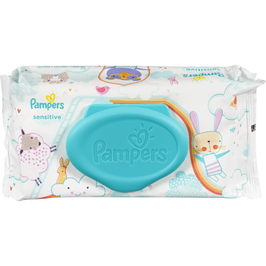 pampers sensitive wipes tube 56ea