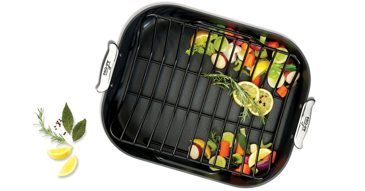 win all clad non stick roasting pan