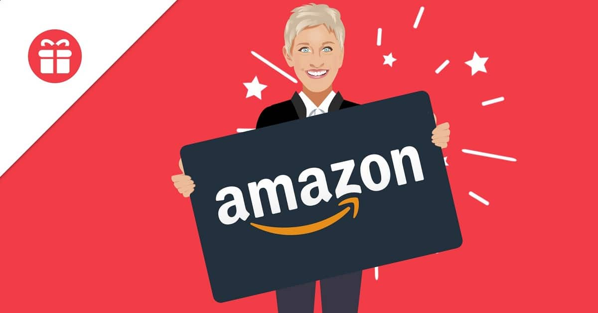 win amazon gift card ellen