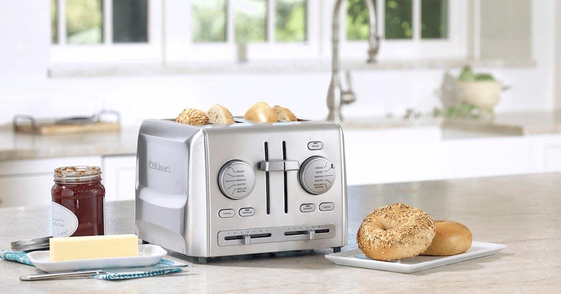 win cuisinart 4 leverless toaster
