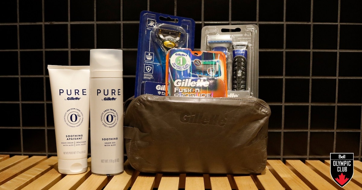 win gillette shaving kit