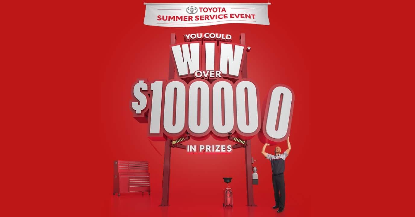 win toyota summer service event
