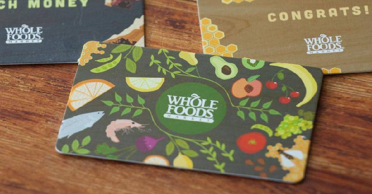 win whole foods gift card