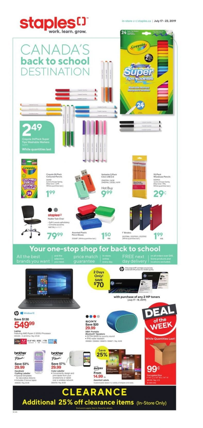Staples Flyer July 17 to 23 2019 001