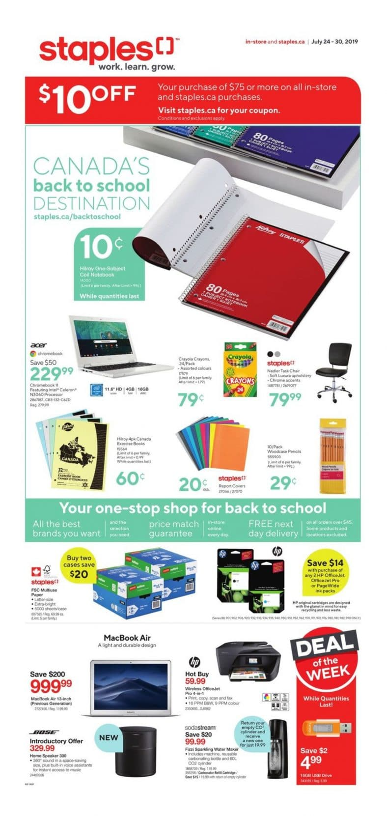 Staples Flyer July 24 to 30 2019 001