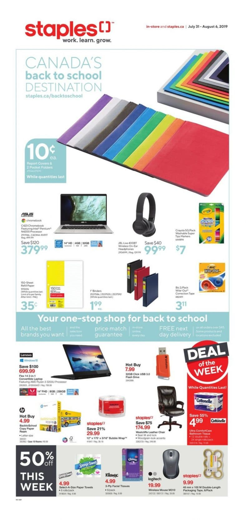 Staples Flyer July 31 to August 06 2019 001
